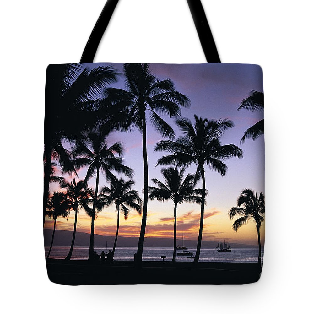 Airport Tote Bag featuring the photograph Tropical Sunset by Bill Schildge - Printscapes