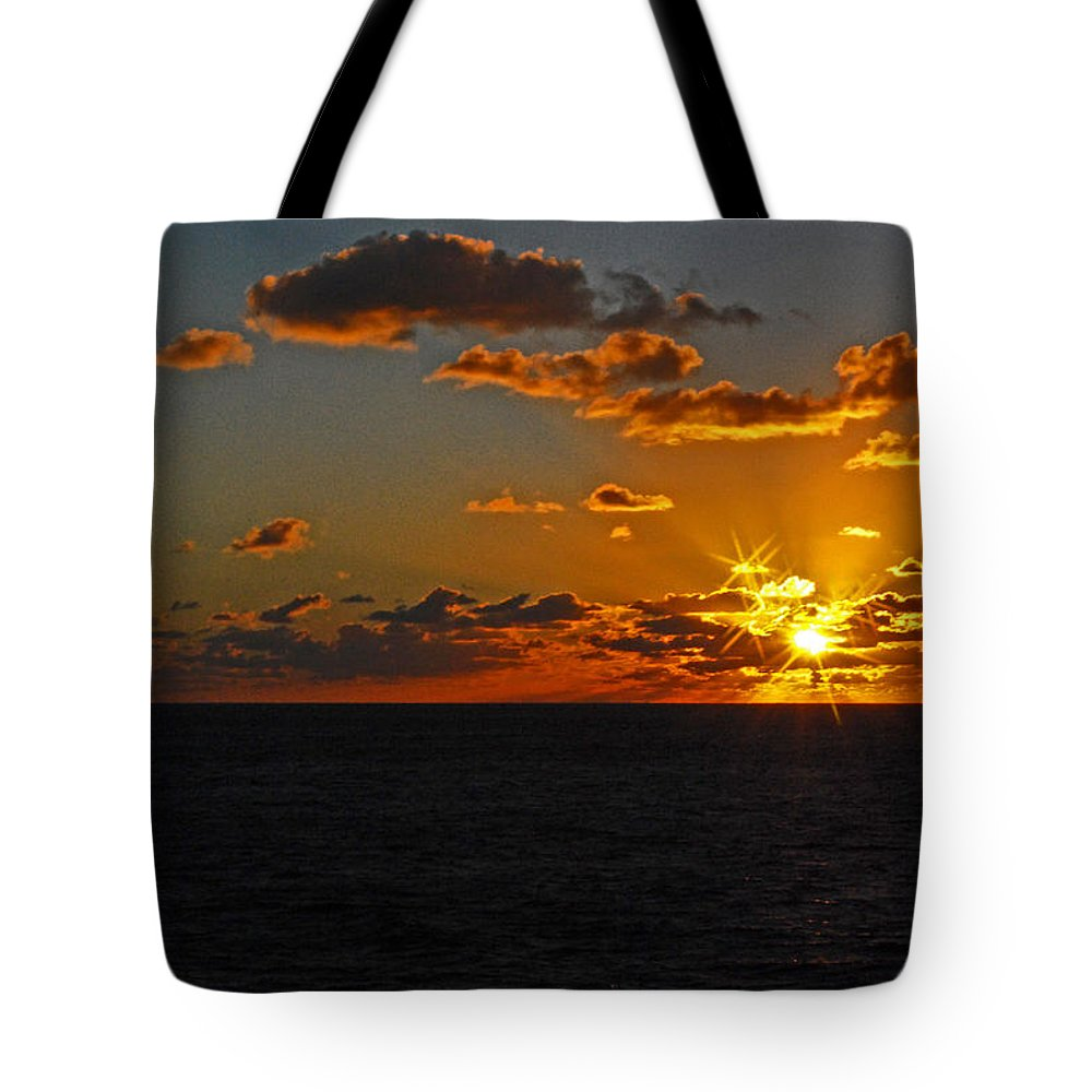 Sunset Tote Bag featuring the photograph Tropical Sunset by Gary Wonning