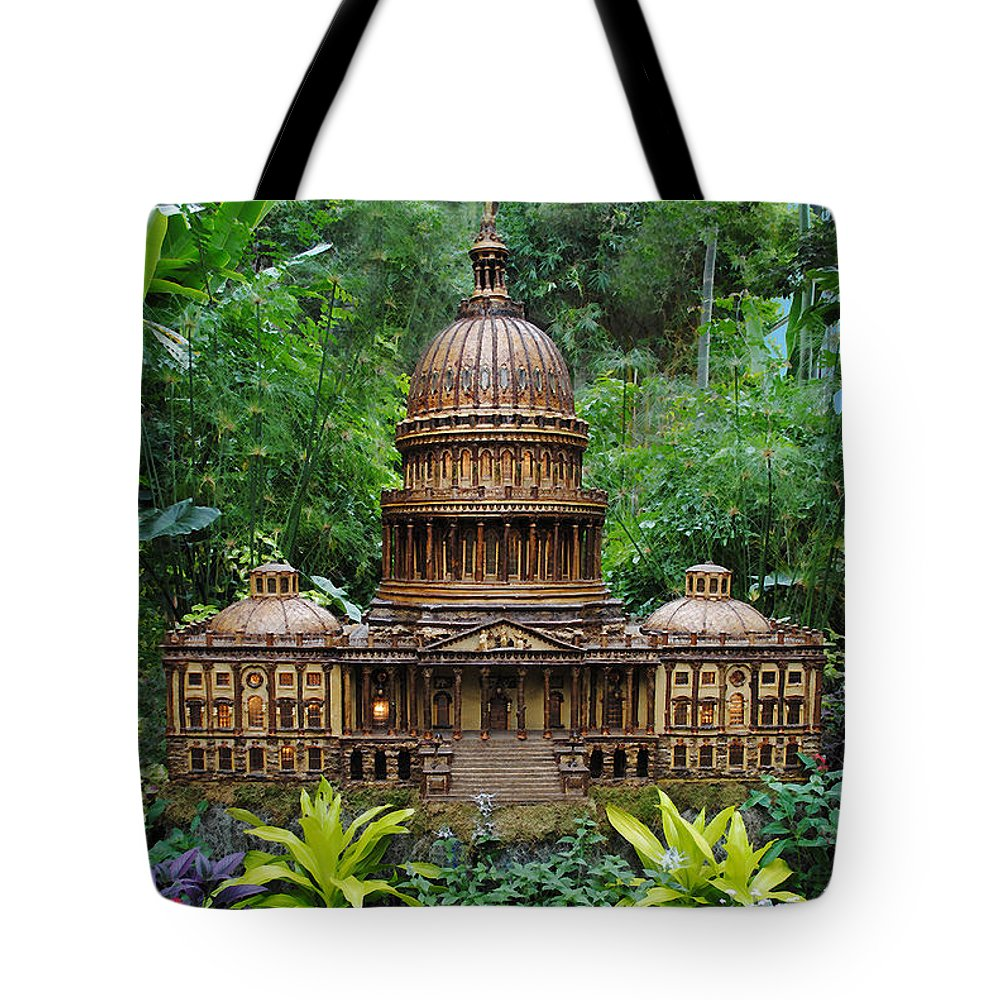 Capitol Tote Bag featuring the photograph Tropical Us Capitol by Jost Houk
