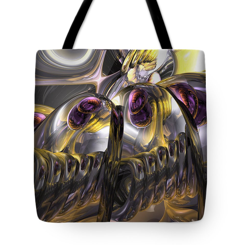 3d Tote Bag featuring the digital art Tropical Wind Abstract by Alexander Butler
