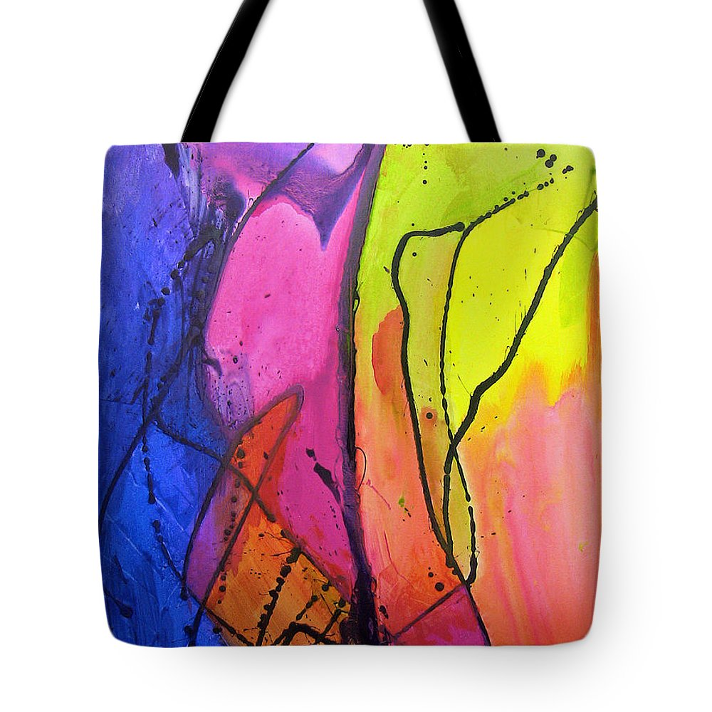 Acrylic Tote Bag featuring the painting Tropicalis by Paul Harrington