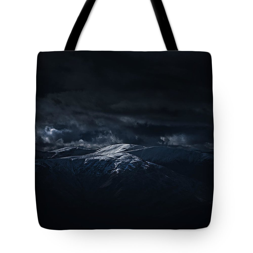 Arrochar Alps Tote Bag featuring the photograph Trossachs Hills by Kate Morton