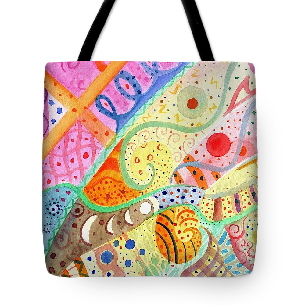 Elephant Tote Bag featuring the painting Trotting Lightly by Helena Tiainen