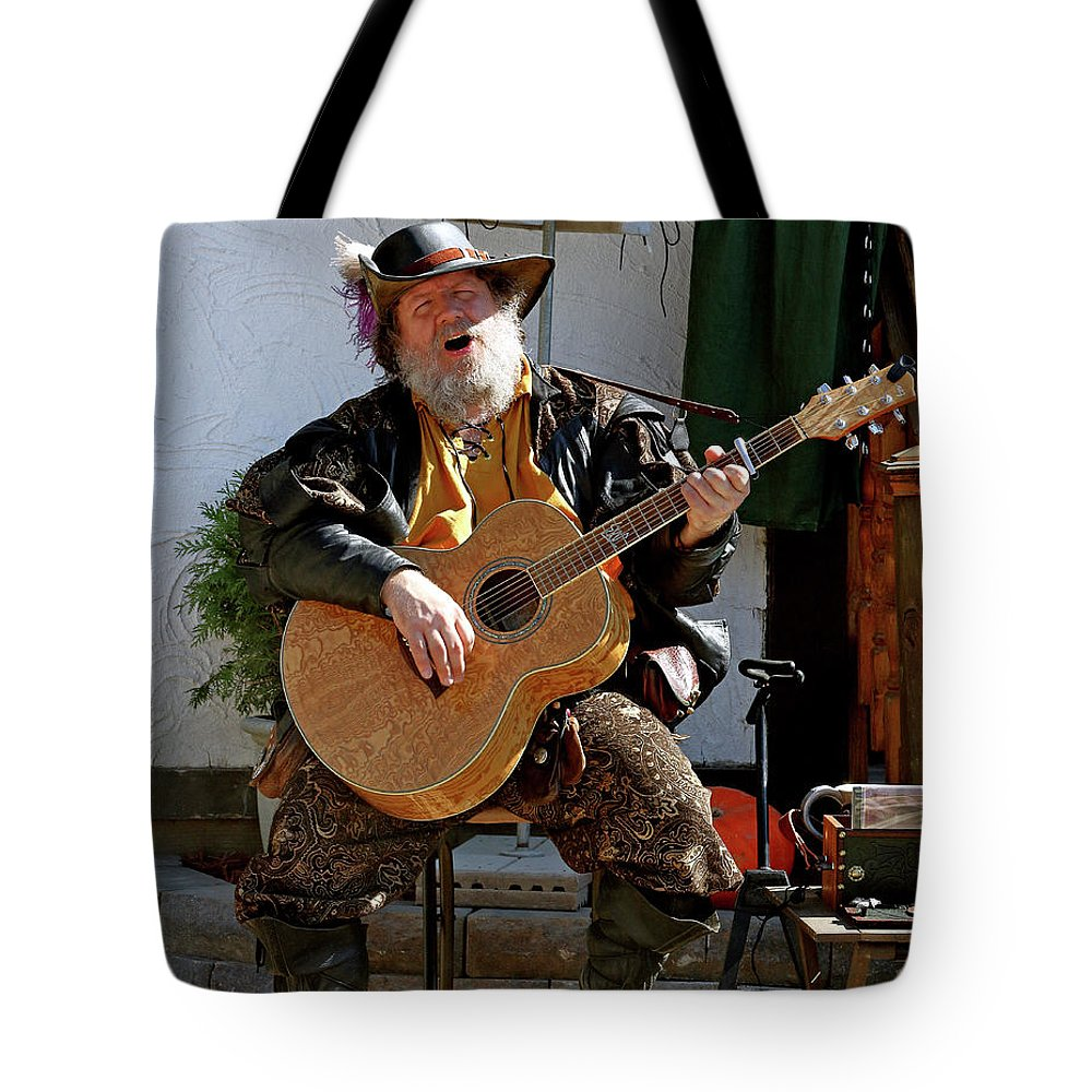 Medieval Tote Bag featuring the photograph Troubadour by John Wijsman