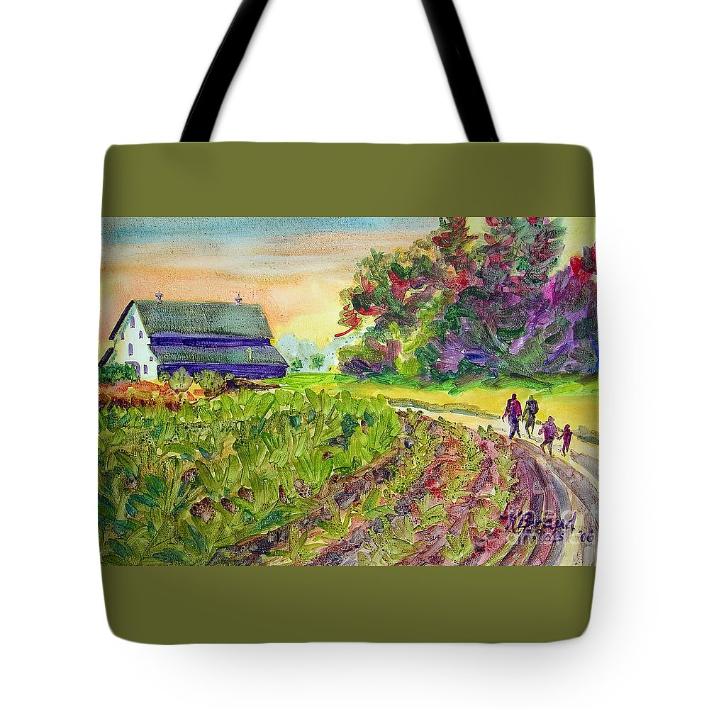 Paintings Tote Bag featuring the painting Troy's Memories by Kathy Braud