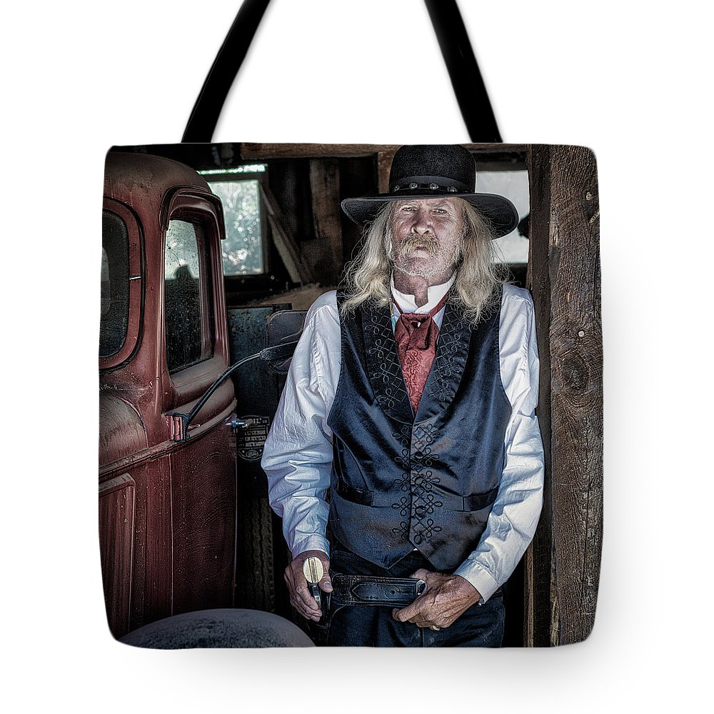 Cowboy Tote Bag featuring the photograph True Grit by William Dahl