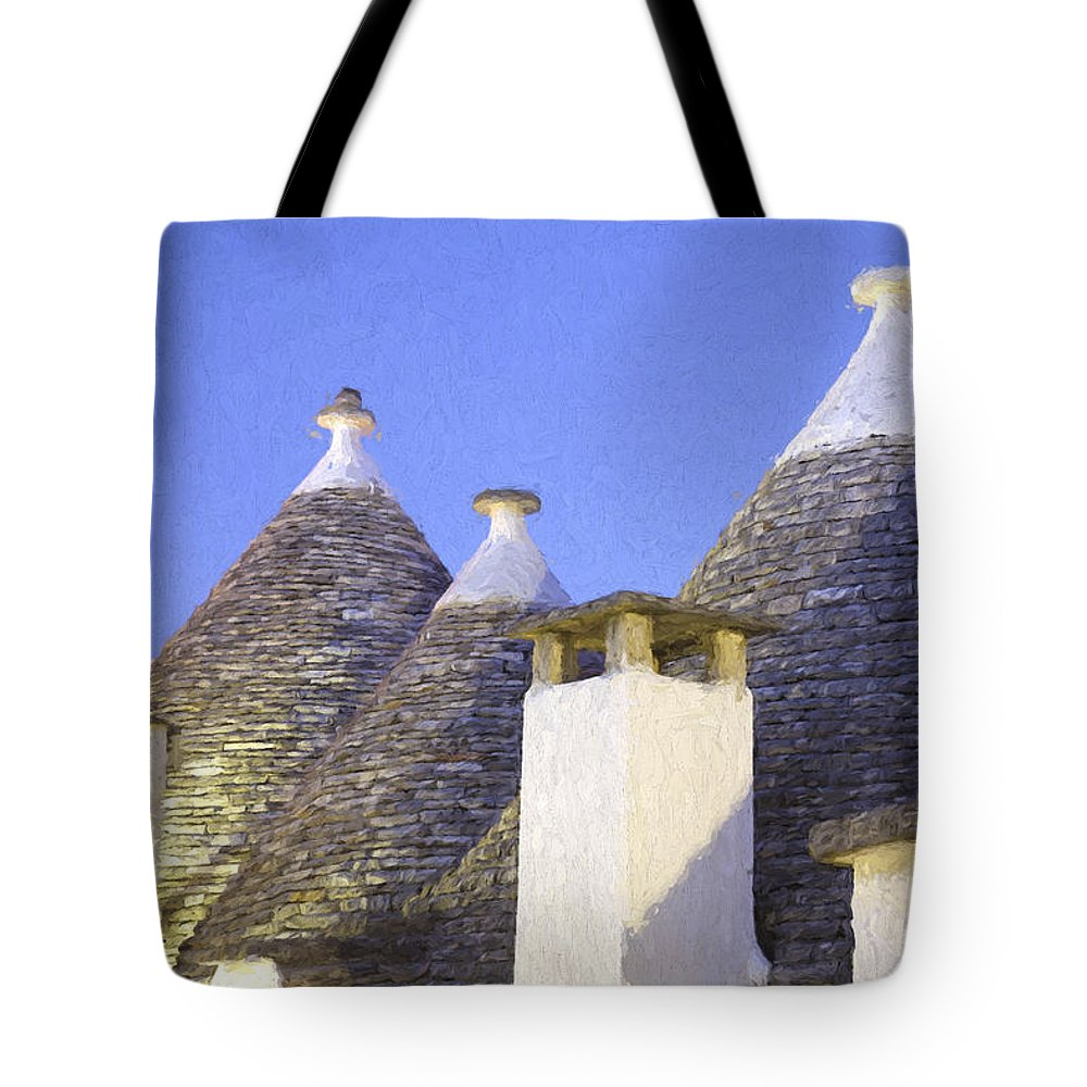 Alberobello Tote Bag featuring the photograph Trulli IIi by Julie Woodhouse