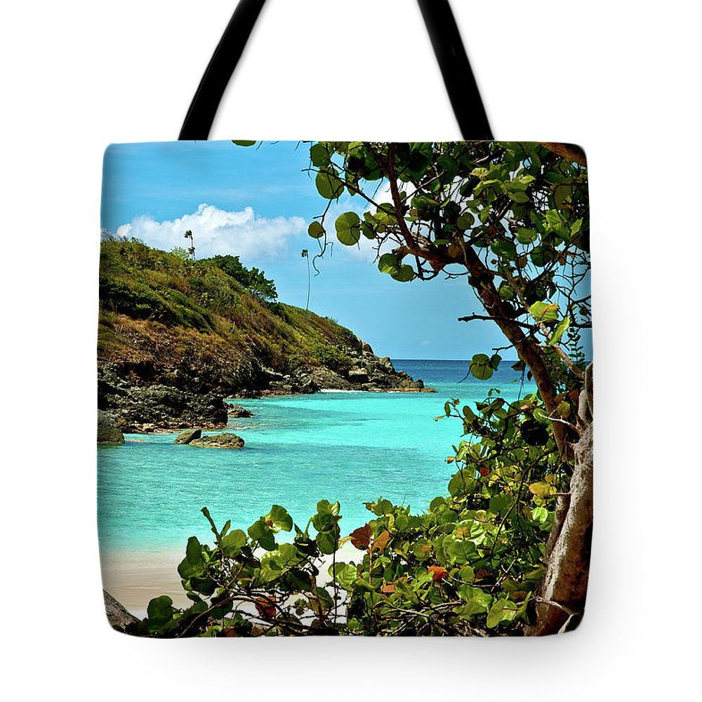 Trunk Bay Tote Bag featuring the photograph Trunk Bay Island by Harry Spitz