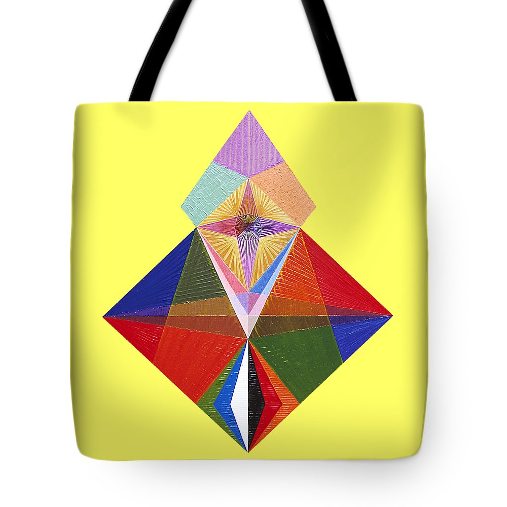 Contemporaryart Tote Bag featuring the painting Truth by Michael Bellon