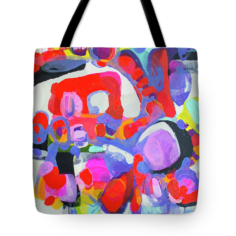 Abstract Tote Bag featuring the painting Try Me by Claire Desjardins