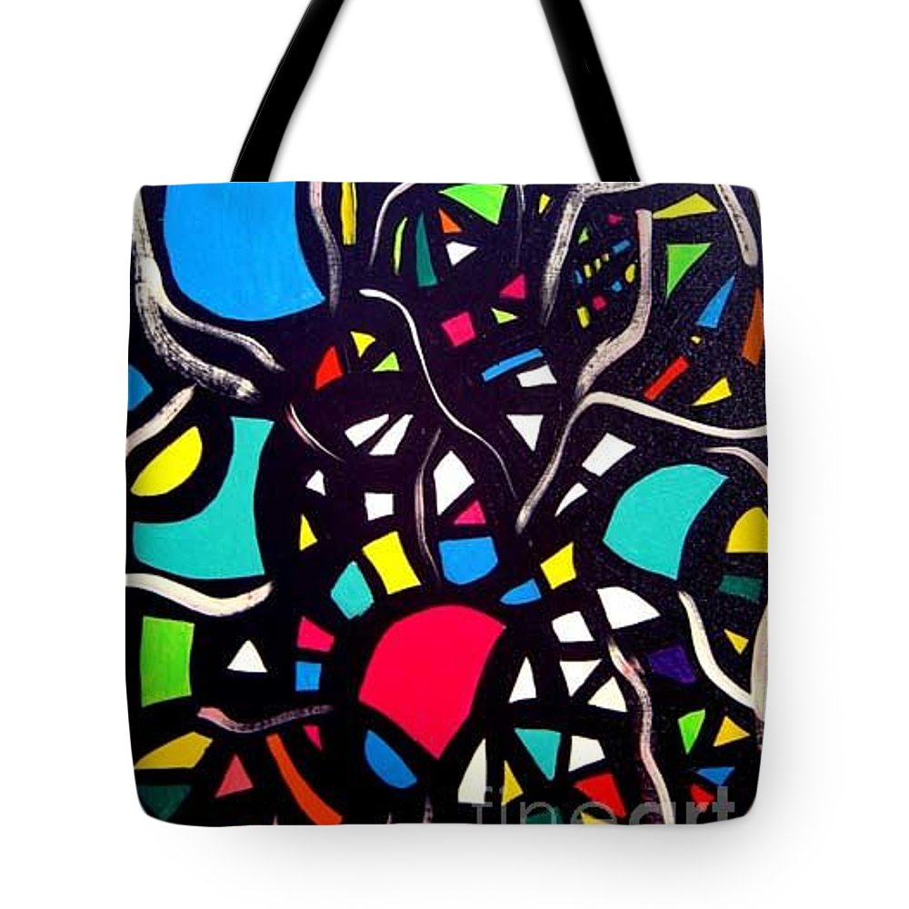Blue Tote Bag featuring the painting Try To Look Inside by Safak Tulga