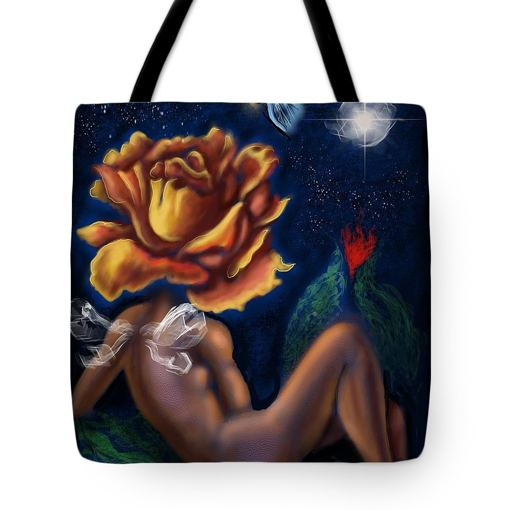 Tote Bag featuring the digital art Tryst By Night  by Tighe O'DonoghueRoss