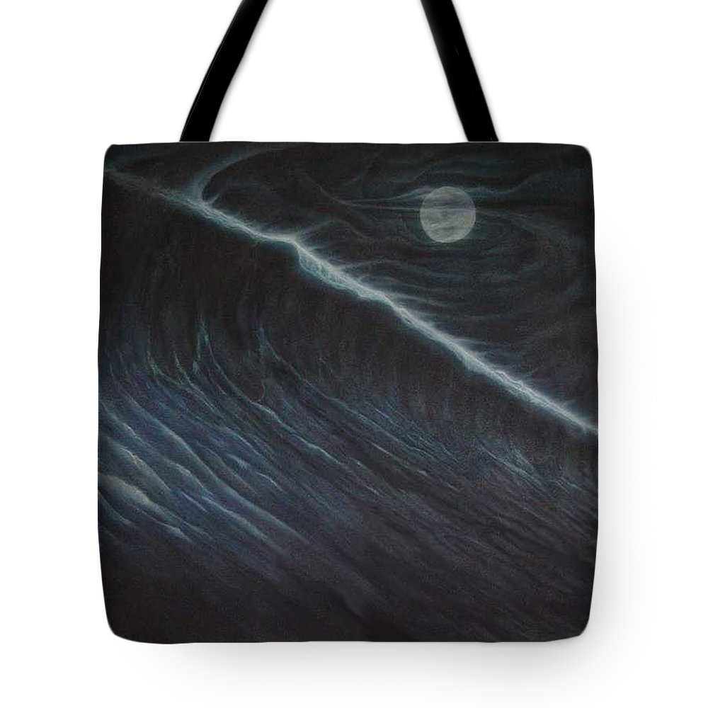 Seascapes Tote Bag featuring the painting Tsunami by Angel Ortiz