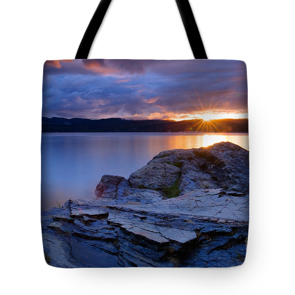 Rocks Tote Bag featuring the photograph Tubbs Hill Sunset by Idaho Scenic Images Linda Lantzy