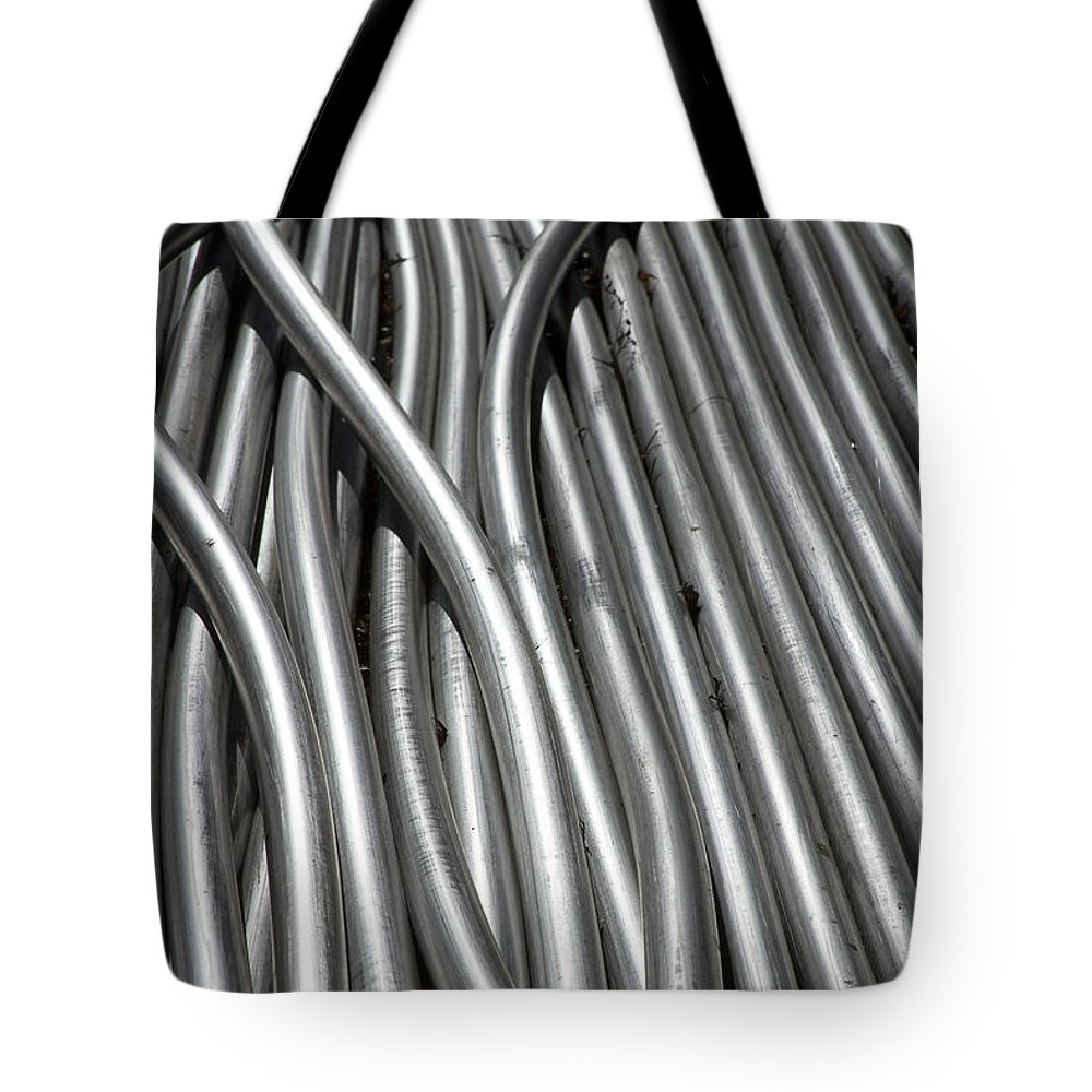 Tubes Tote Bag featuring the photograph Tubular Abstract Art Number 3 by James BO Insogna