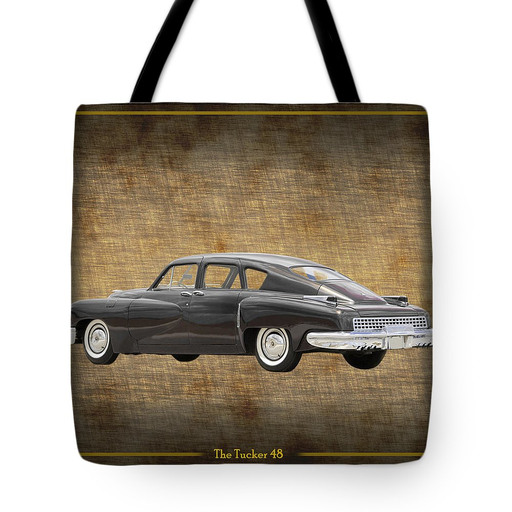 The Tucker 48 Was An Advanced Automobile Conceived By Preston Tucker And Briefly Produced In Chicago In 1948 Tote Bag featuring the photograph Tucker 48 by Jack Pumphrey