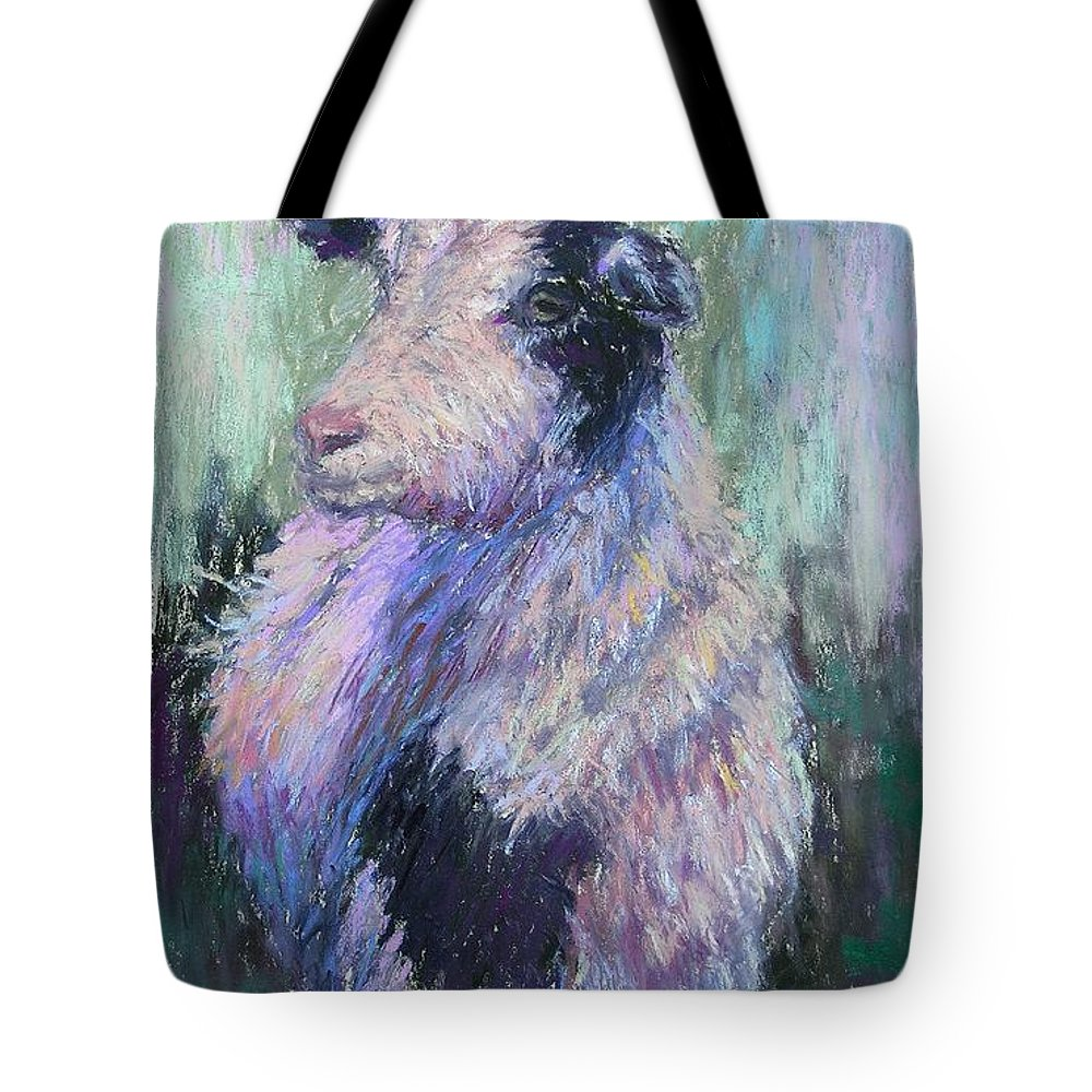 Farm Animals Tote Bag featuring the painting Tucker Redux by Susan Williamson