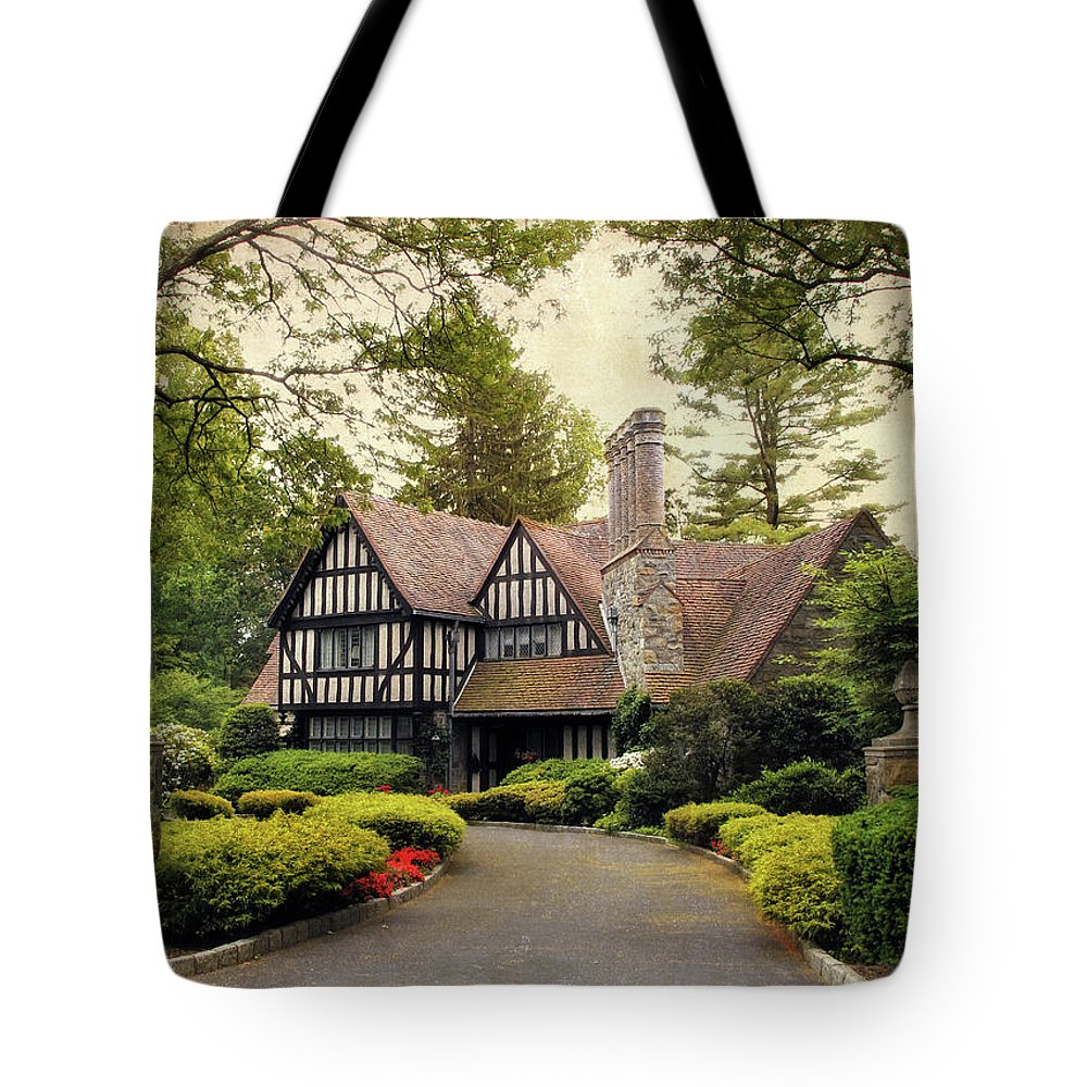Nature Tote Bag featuring the photograph Tudor Home by Jessica Jenney
