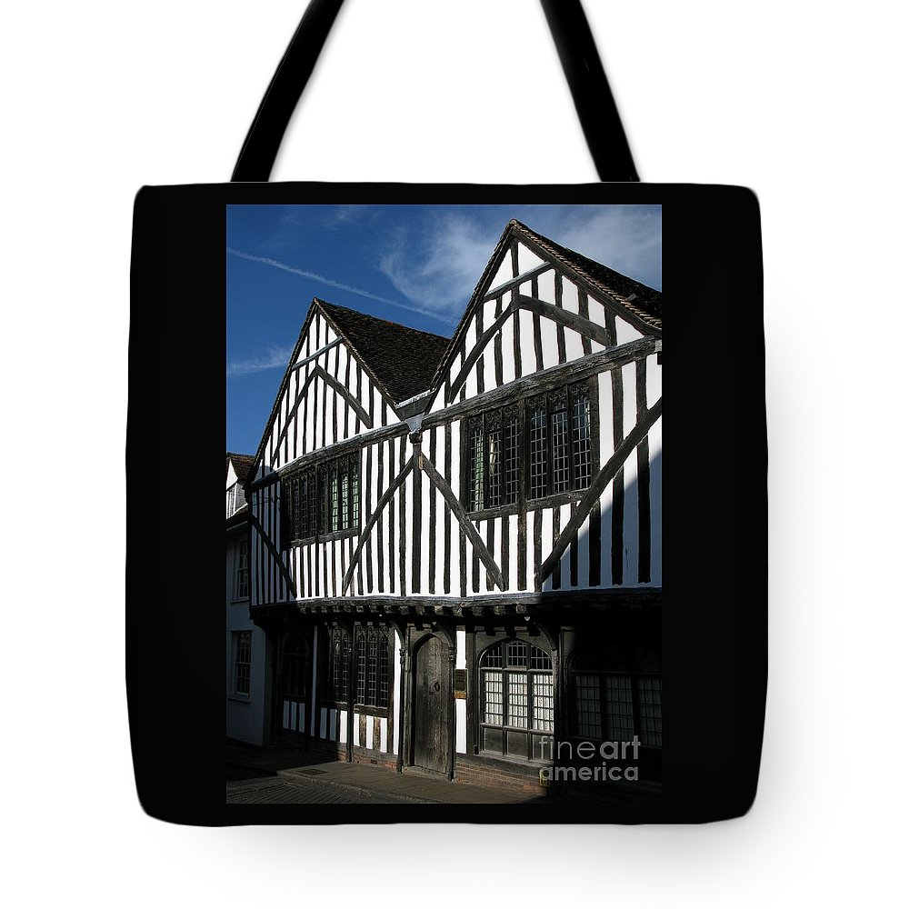 Tudor Tote Bag featuring the photograph Tudor Timber by Ann Horn