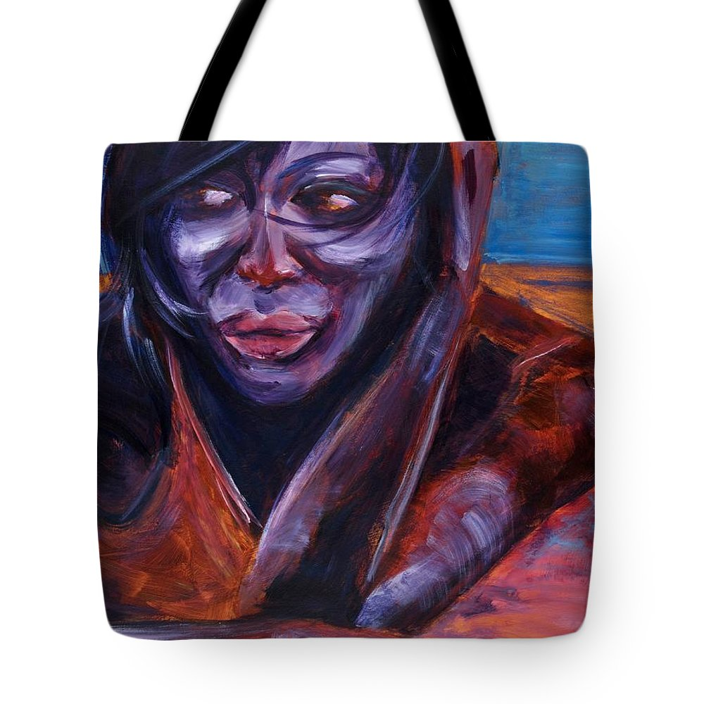 Girl Tote Bag featuring the painting Tuesday by Jason Reinhardt