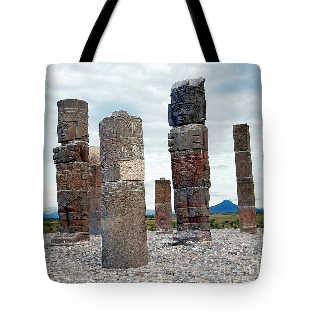 10th Century Tote Bag featuring the photograph Tula: Toltec Monuments by Granger