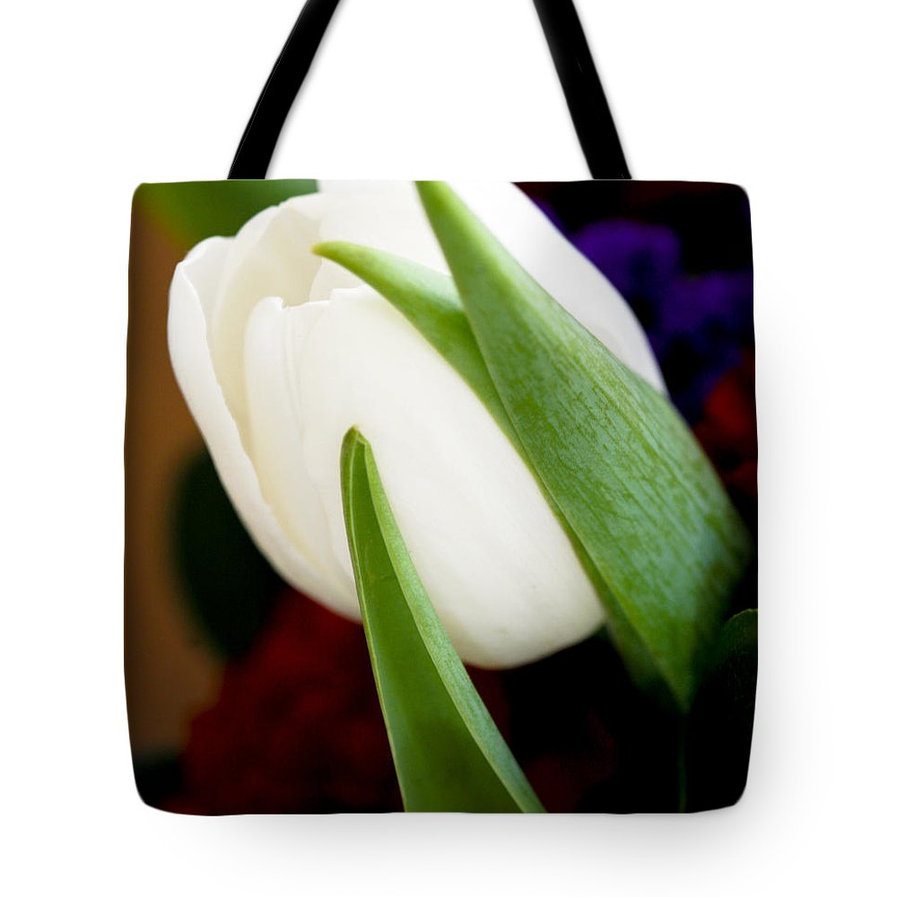 Floral Tote Bag featuring the photograph Tulip Arrangement 4 by Marilyn Hunt