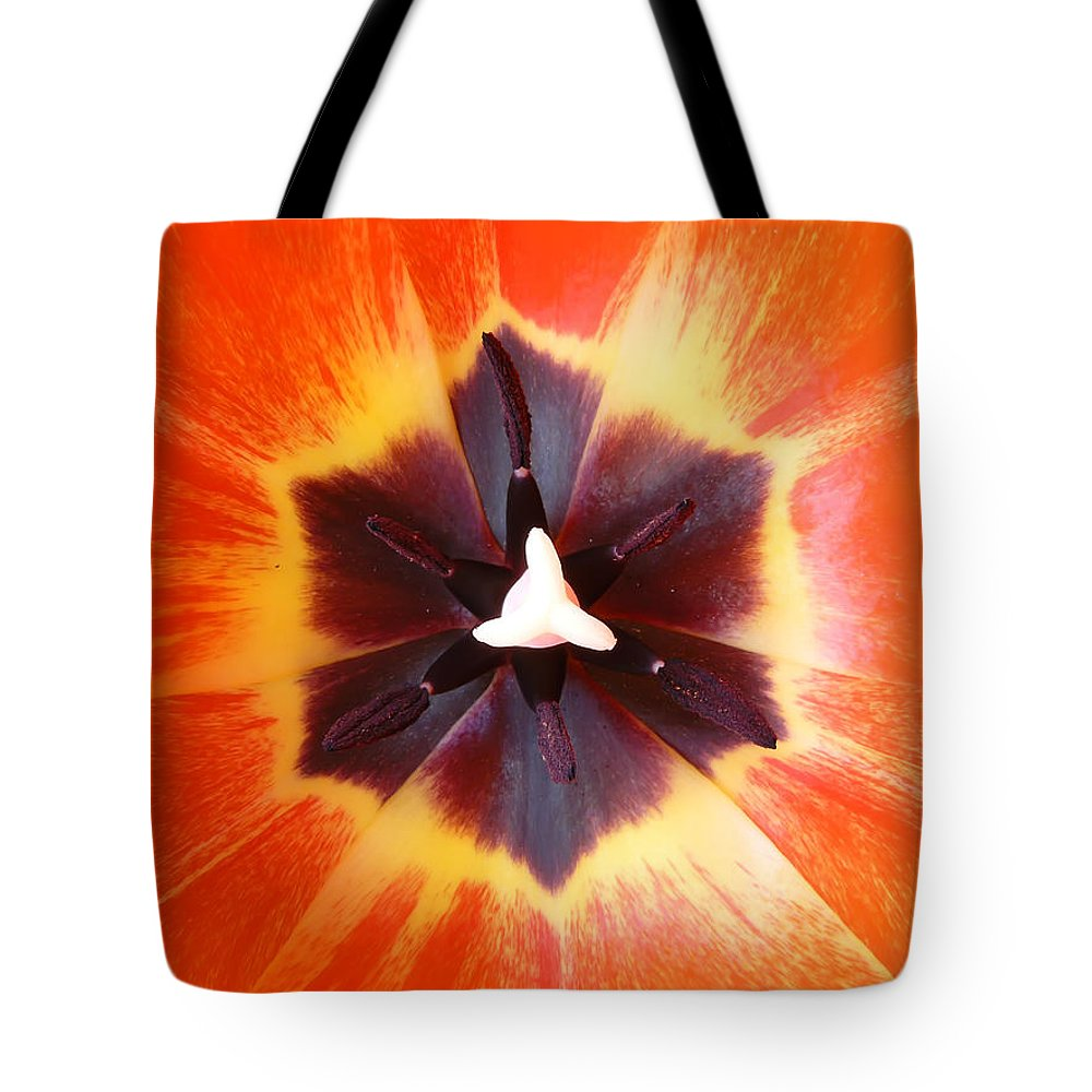 Tulip Tote Bag featuring the photograph Tulip by Daniel Csoka