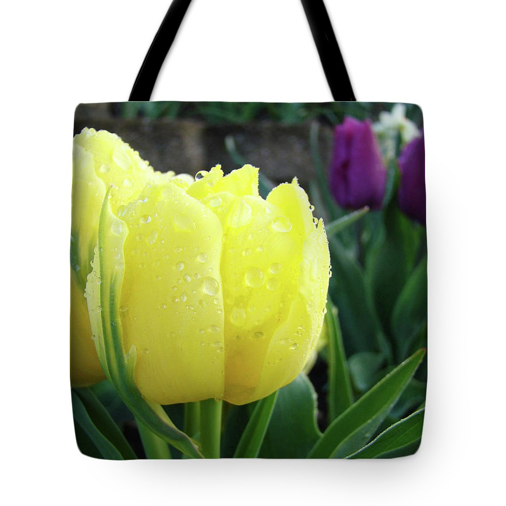 �tulips Artwork� Tote Bag featuring the photograph Tulip Flowers Artwork Tulips Art Prints 10 Floral Art Gardens Baslee Troutman by Baslee Troutman