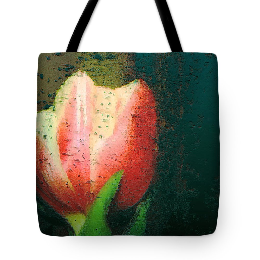 Tulip Tote Bag featuring the photograph Tulip Of Love by Linda Sannuti