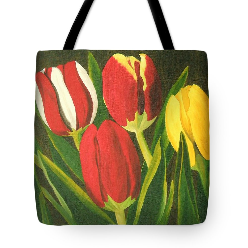 Tulips Tote Bag featuring the painting Tulip Time by Brandy House