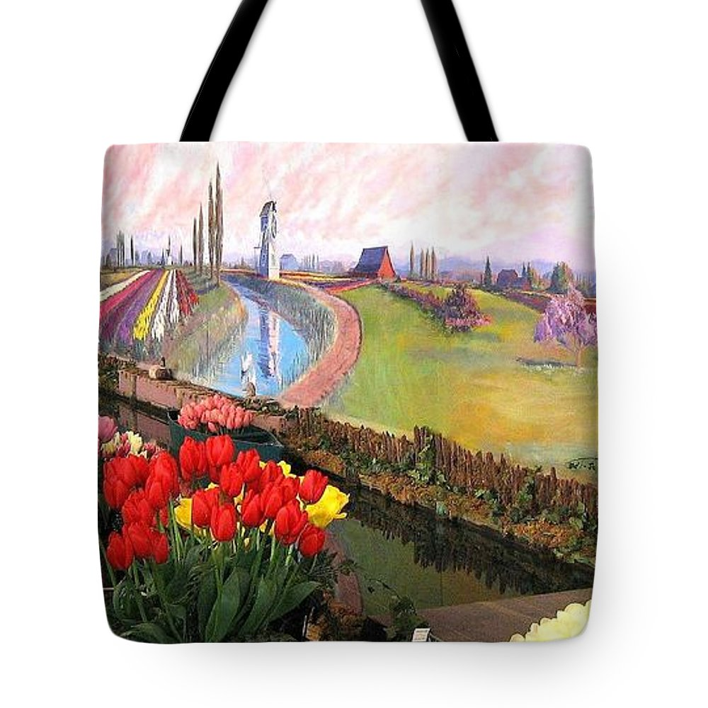 Agriculture Tote Bag featuring the photograph Tulip Town 21 by Will Borden