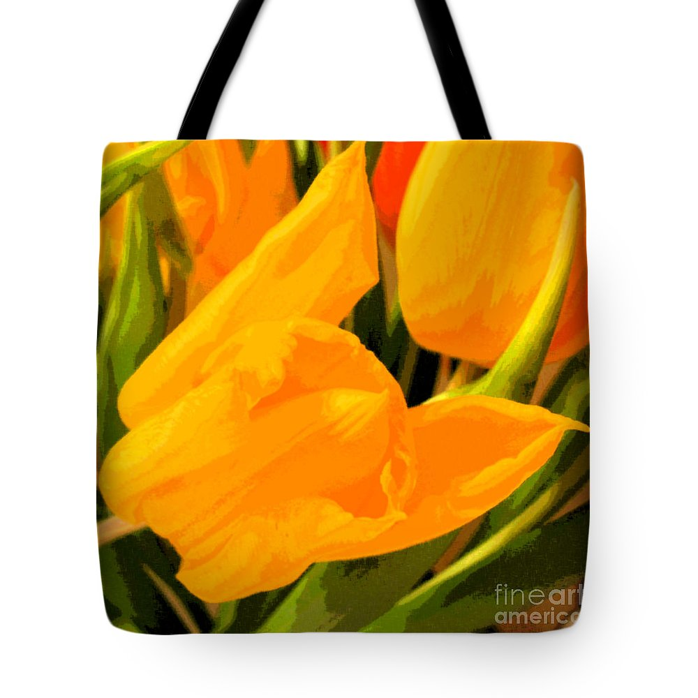 Tulip Tote Bag featuring the photograph Tulips by Amanda Barcon