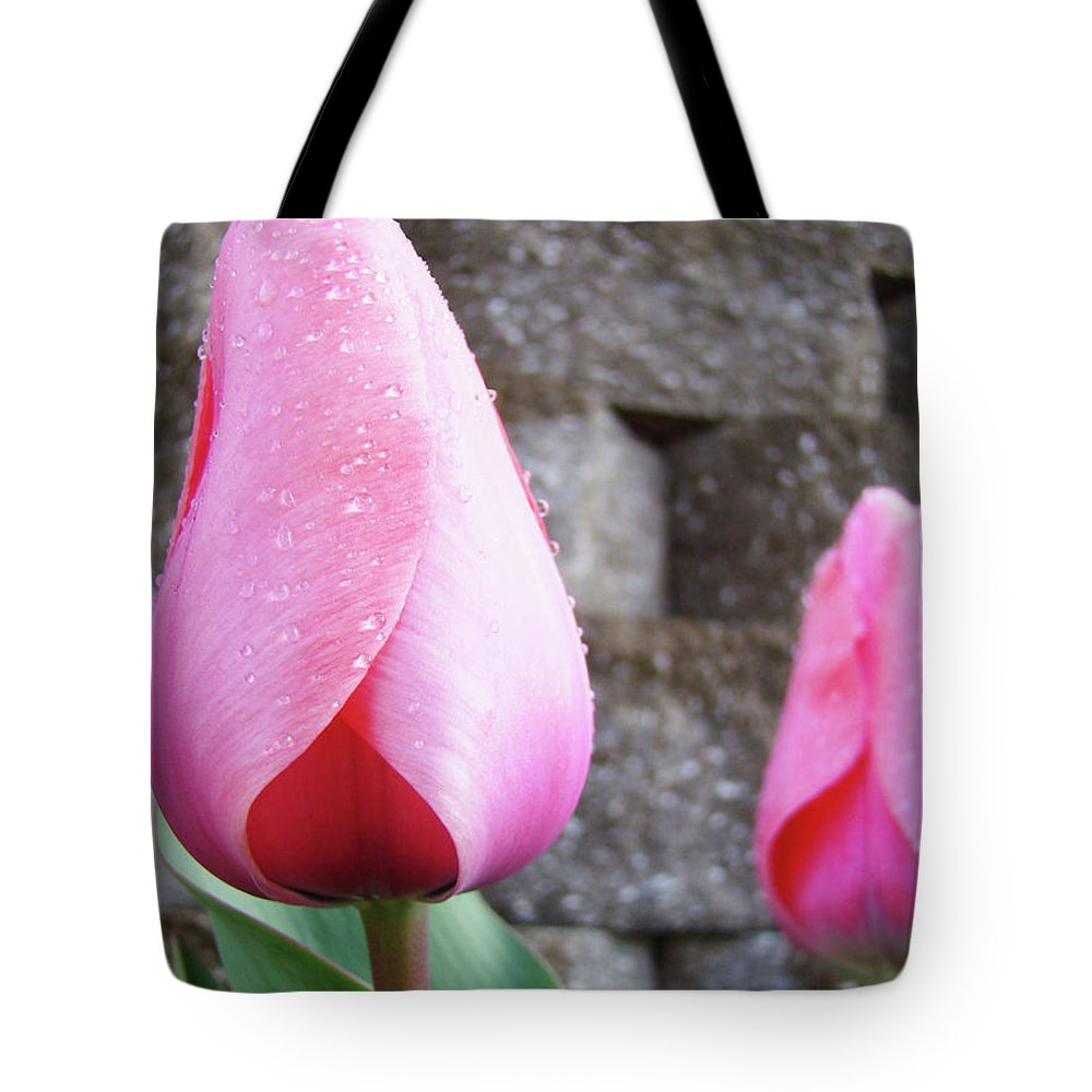 �tulips Artwork� Tote Bag featuring the photograph Tulips Artwork Flowers 26 Pink Tulip Flowers Art Prints Nature Floral Art by Baslee Troutman