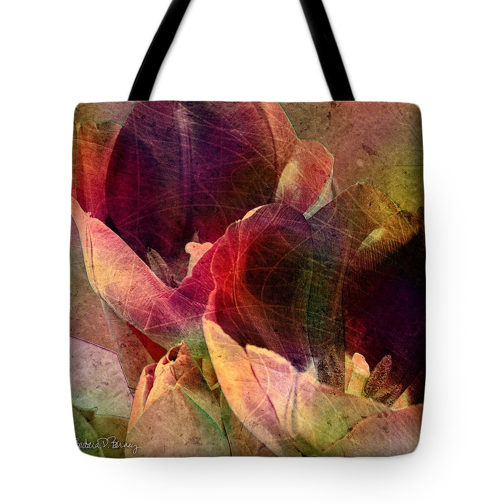 Tulips Tote Bag featuring the digital art Tulips by Barbara Berney