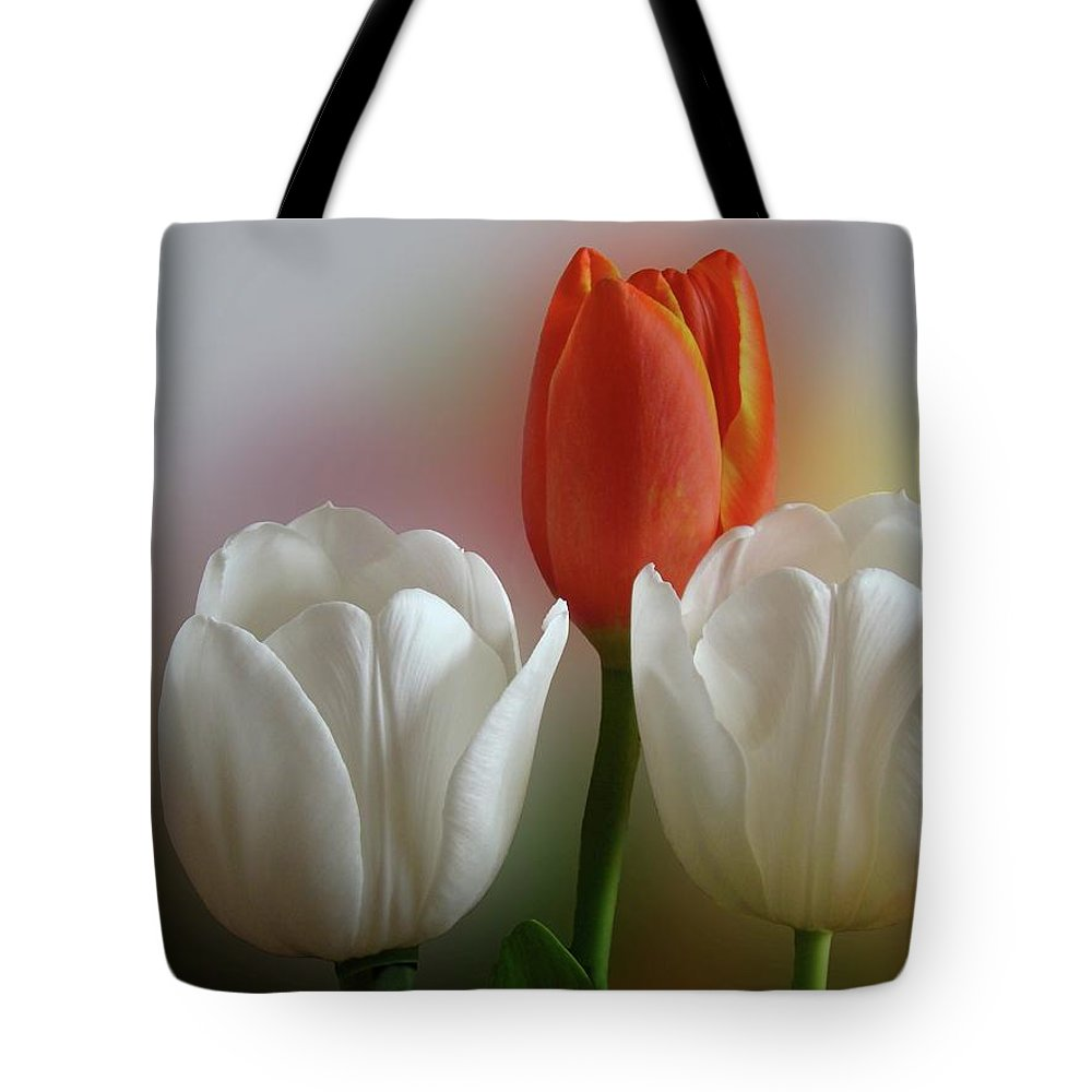 Spring Flowers Tote Bag featuring the photograph Tulips by Sandy Keeton