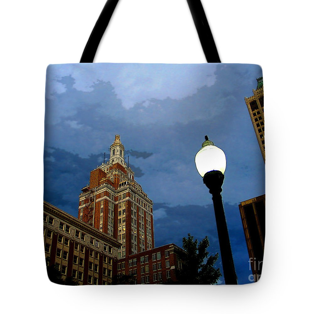 Tulsa Tote Bag featuring the photograph Tulsa Streetscape by Susan Vineyard