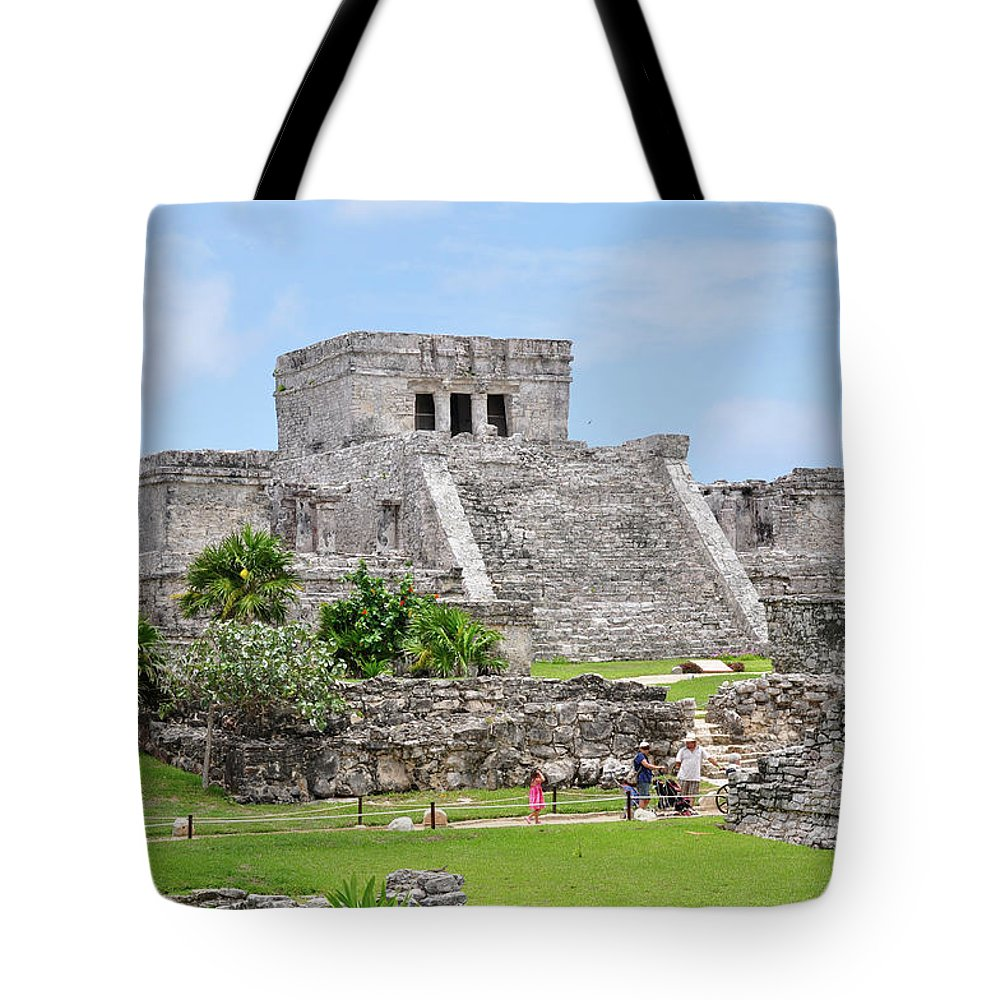 Tulum Tote Bag featuring the photograph Tulum Ruins  by Glenn Gordon