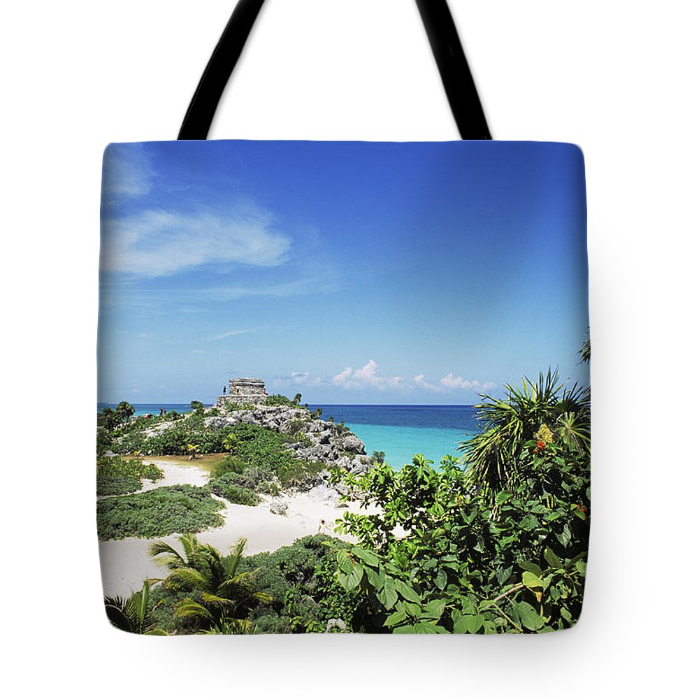 Ancient Tote Bag featuring the photograph Tulum Ruins by Bill Bachmann - Printscapes