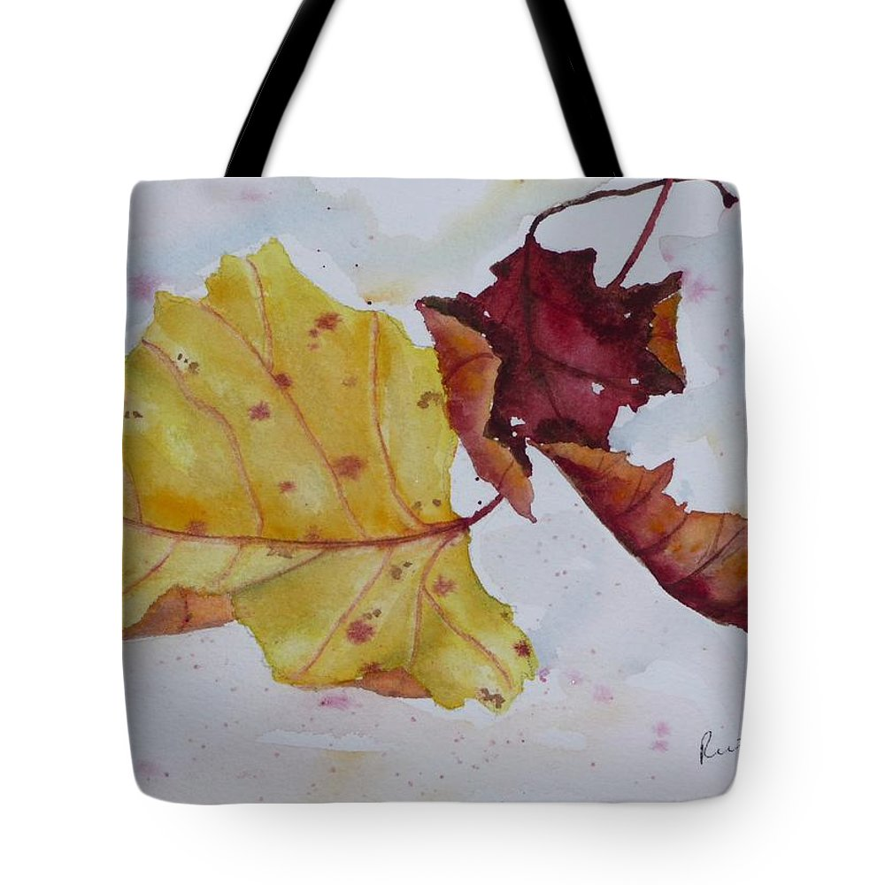 Fall Tote Bag featuring the painting Tumbling by Ruth Kamenev