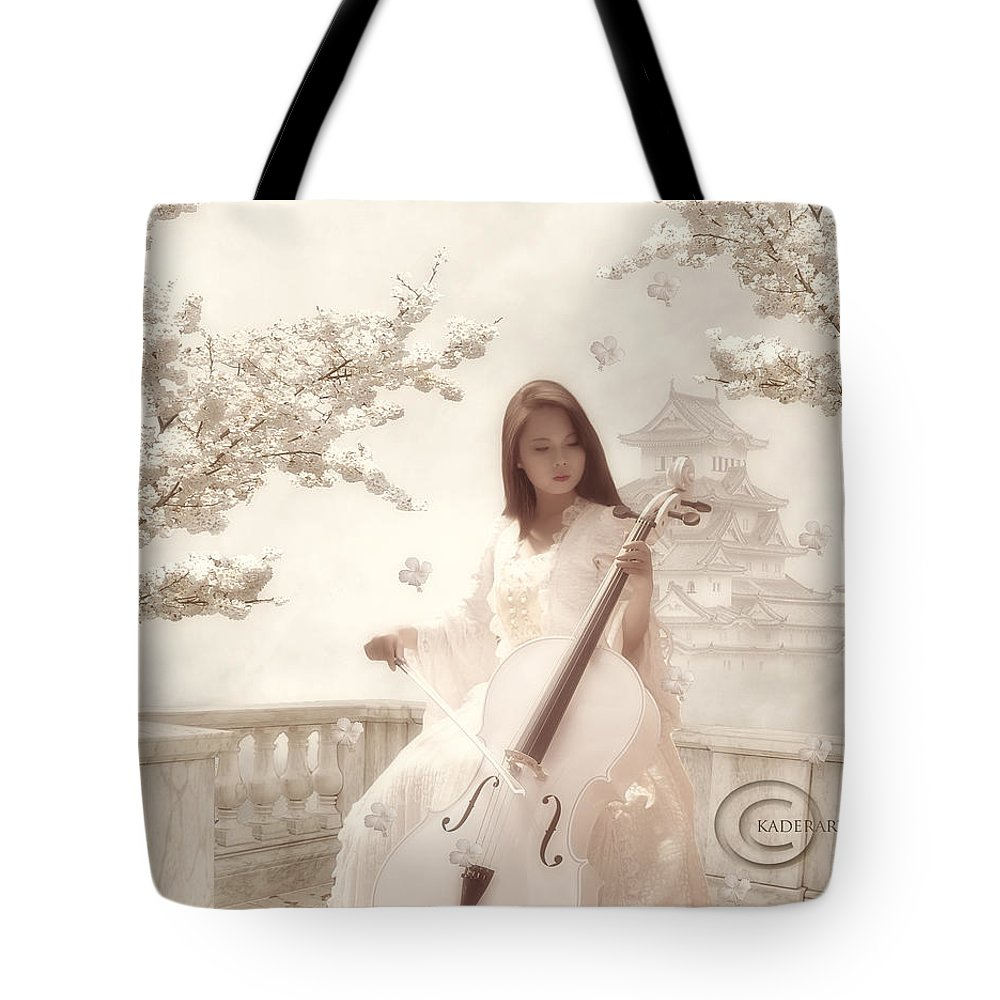 Tote Bag featuring the digital art Tune From The Middle by Abdelkader Bouazza