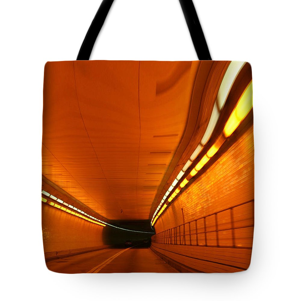 Tunnel Tote Bag featuring the photograph Tunnel by Linda Sannuti