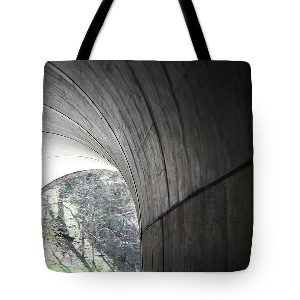 Tote Bag featuring the photograph Tunnel by Teresa Doran