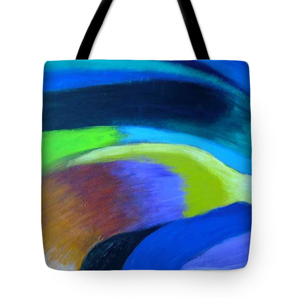 Turbulence Tote Bag featuring the painting Turbulence by Jan Gilmore