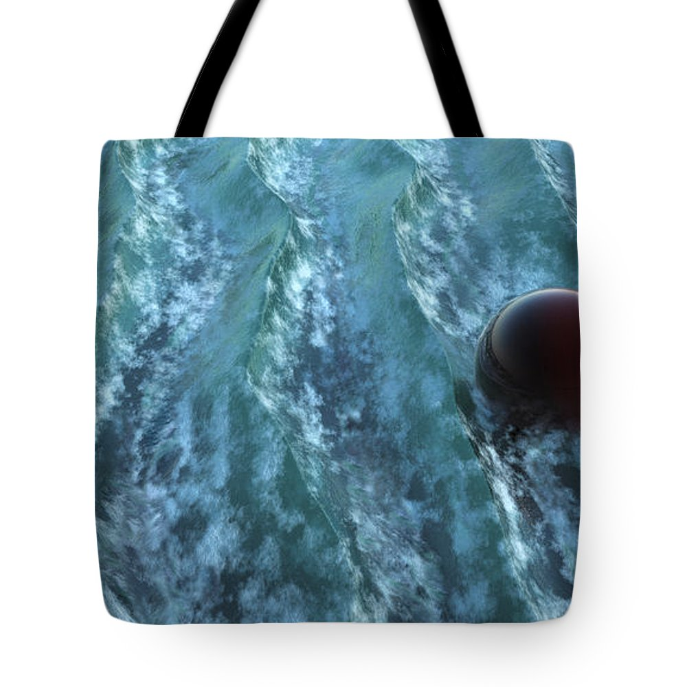Waves Tote Bag featuring the digital art Turbulence by Richard Rizzo