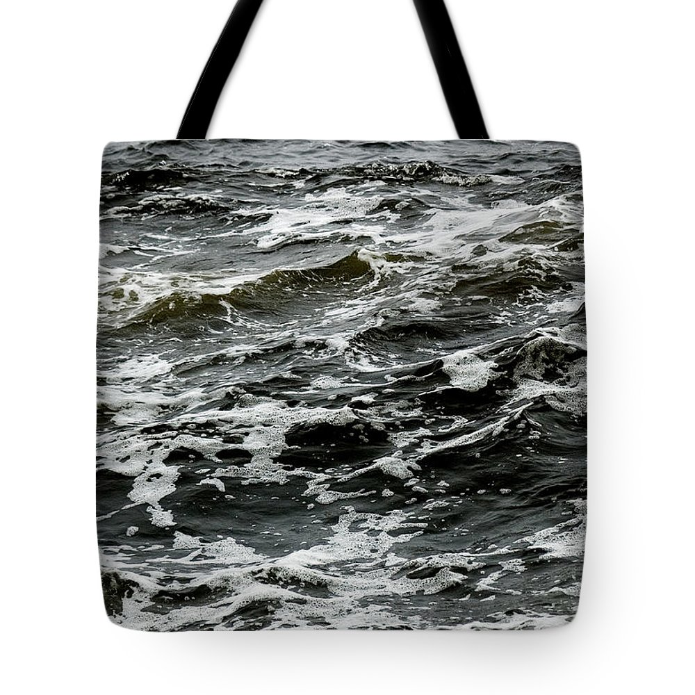 Photography Tote Bag featuring the photograph Turbulent Water Near The Shore by Todd Gipstein