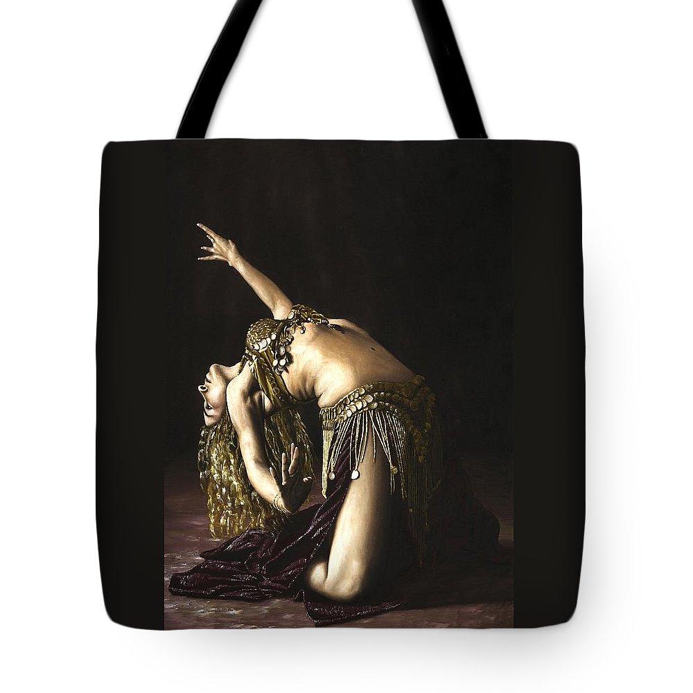 Bellydancer Tote Bags