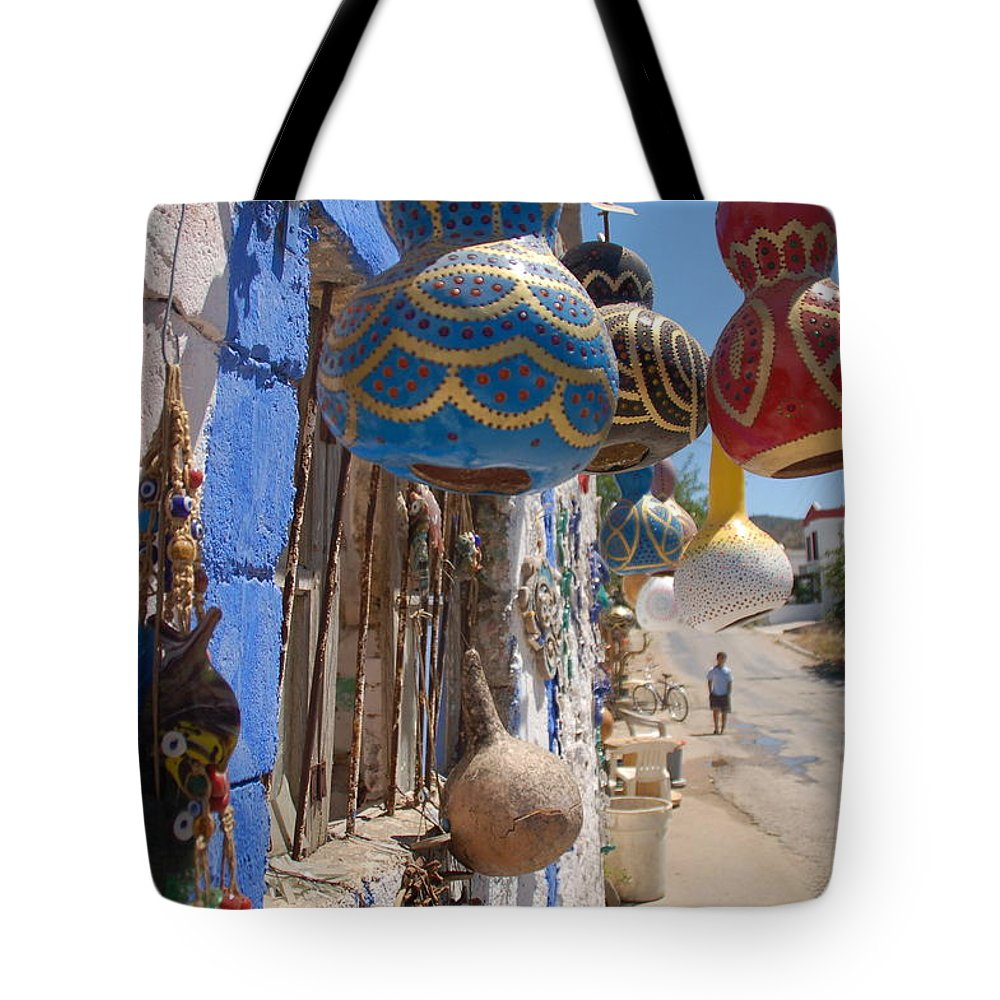 Turkish Tote Bag featuring the photograph Turkish Lamps by Harry Coburn