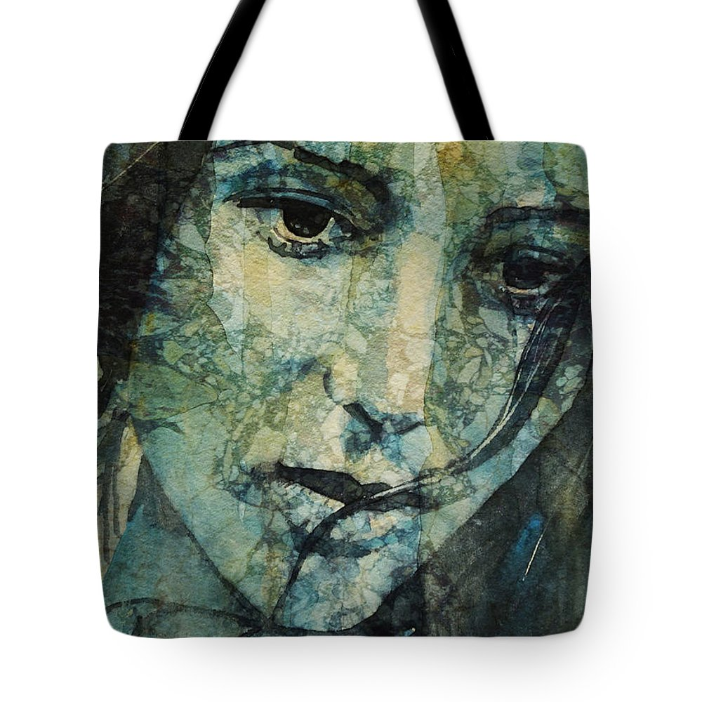 Love Tote Bag featuring the painting Turn Down These Voices Inside My Head by Paul Lovering
