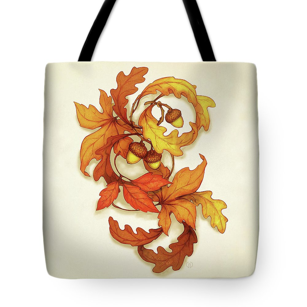 Autumn Tote Bag featuring the painting Turning Leaves by Catherine Noel