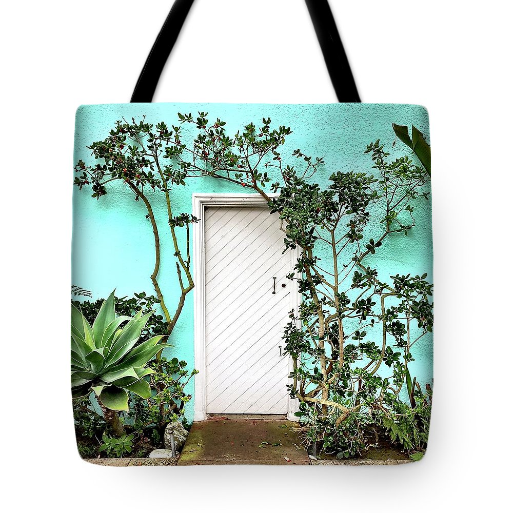Tote Bag featuring the photograph Turqoiuse Wall by Julie Gebhardt